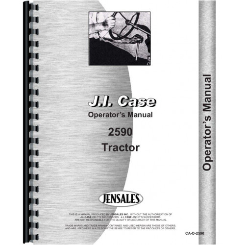 image of the case 2590 tractor operators manual - pdf preview below