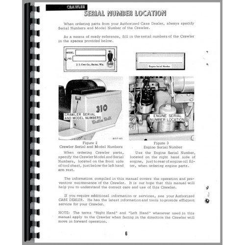 case 310 crawler operators manual rh jensales com 530 Case Tractor Wiring Diagram NP246 Transfer Case Wiring Diagram