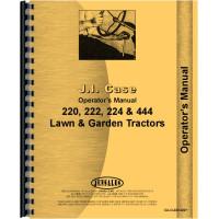 Case 220 Lawn & Garden Tractor Operators Manual