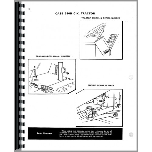 Case 580b Industrial Tractor Parts Manual  Shuttle