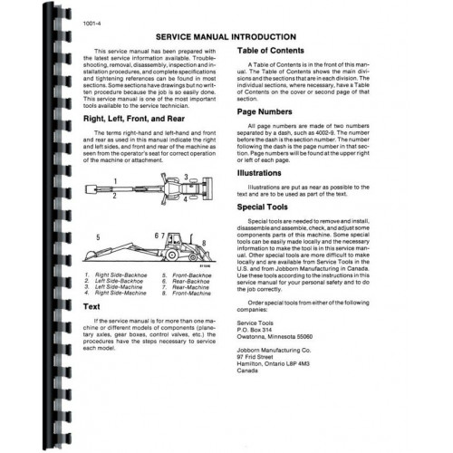 Case 580K Tractor Loader Backhoe Service Manual (SN# 0-JJG0019999)  (Includes 3 Volumes)