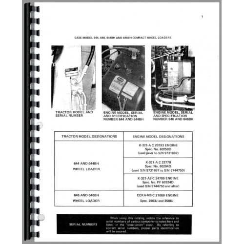 Business & Industrial Case 644 646 Compact Wheel Loader Parts ...