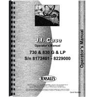 Case 830 Tractor Operators Manual
