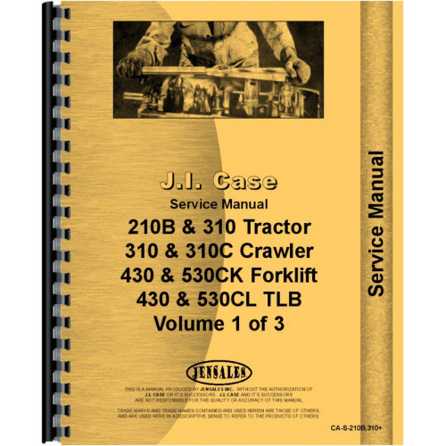 case 310 tractor loader backhoe service manual w loaderand or backhoe rh jensales com Case IH Tractor Wiring Diagrams Case VAC Wiring-Diagram