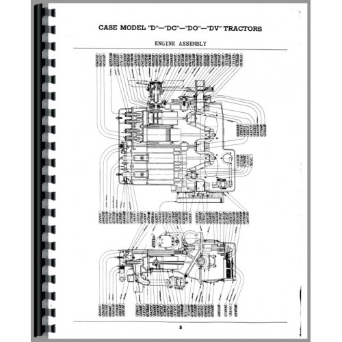 Case D Tractor Parts Manual Sn 4511449 5600000 Wo Eagle Hitch