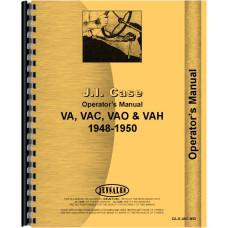 Case VAH Tractor Operators Manual (1948-1950)