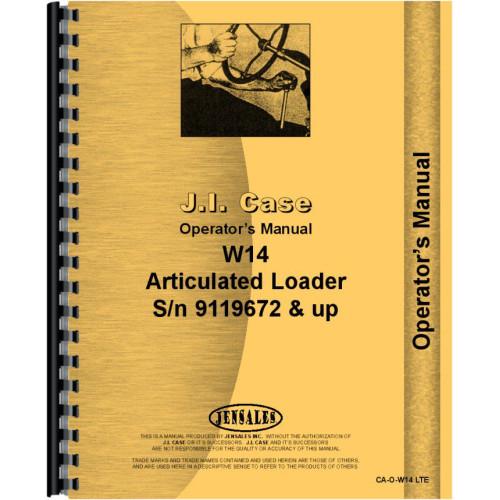 Case W14 Wheel Loader Operators Manual (SN# 9119672 & up) W Case Loader Wiring Diagram on