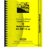 Caterpillar 12 Grader Operators Manual (SN# 99E1)