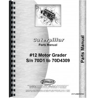 Image of Caterpillar 12 Grader Parts Manual (SN# 70D1-70D4309)