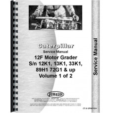 Caterpillar 12F Grader Service Manual (SN# 13K1 and Up, 33K1 and Up, 89H1 and Up)