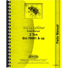 Caterpillar 2-Ton Crawler Parts Manual