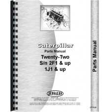 Caterpillar 22 Crawler Parts Manual (SN# 2F1351-2F9999) (2F1351-2F9999)