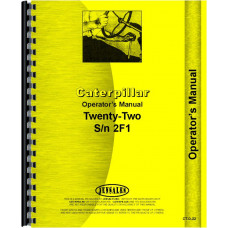 Caterpillar 22 Crawler Operators Manual