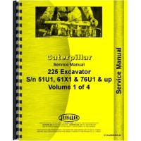 Image of Caterpillar 225 Excavator Service Manual (SN# 51U2832 and Up, 61X1 and Up, 76U1317 and Up)