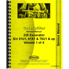 Caterpillar 225 Excavator Service Manual (SN# 51U2832 and Up, 61X1 and Up, 76U1317 and Up)