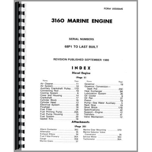 caterpillar 3160 engine parts manual sn 68p1 rh jensales com Caterpillar Engine Diagram Caterpillar 3160 Engine Service Manual