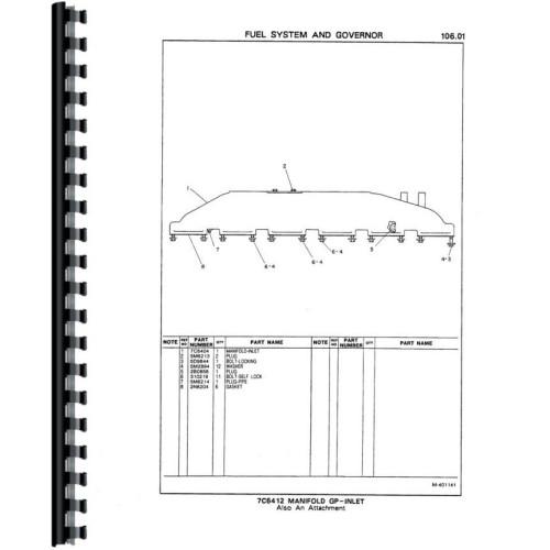 Caterpillar 3406B Engine Parts Manual Sn 7FB1 9999 4MG1 3599