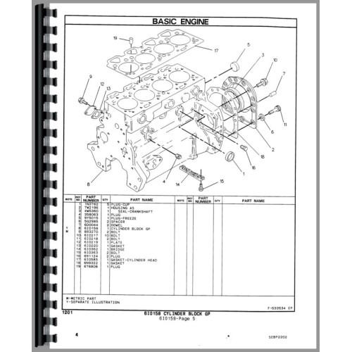 Caterpillar 416b Tractor Loader Backhoe Parts Manual  Sn