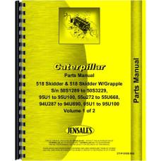 Caterpillar 518 Skidder Parts Manual (SN# 50S1289-50S3229, 55U272-55U668, 94U287-94U690, 95U1-95U100)