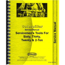 Caterpillar 2-Ton Crawler Service Manual (All SN#s)