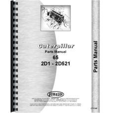 Caterpillar 65 Crawler Parts Manual (SN# 2D1 and Up)