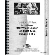 Caterpillar 910 Wheel Loader Service Manual (SN# 80U1 and Up)