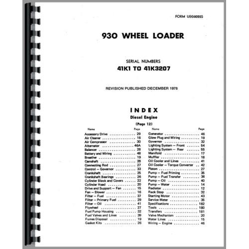 Caterpillar 930 Manual