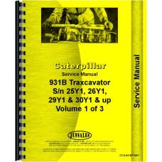Caterpillar 931B Traxcavator Service Manual (SN# 25Y1 and UP, 26Y1 and UP, 29Y1 and UP, 30Y1 and UP)