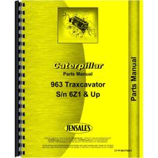 Caterpillar 963 Traxcavator Parts Manual (SN# 6Z1 and up)