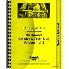 Caterpillar D3 Crawler Service Manual (SN# 6N1, 79U1)