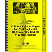Caterpillar D2 Crawler Engine Service Manual (SN# 4U1 and Up, SN# 5U1 and Up)