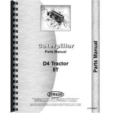 Caterpillar D4 Crawler Parts Manual (SN# 5T1 and Up) (5T1+)