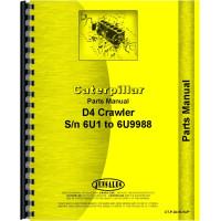 Image of Caterpillar D4 Crawler Parts Manual (SN# 6U1-6U9988) (6U1-6U9988)