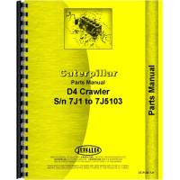 Image of Caterpillar D4 Crawler Parts Manual (SN# 7J1-7J5103)