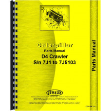 Caterpillar D4 Crawler Parts Manual (SN# 7J1-7J5103)