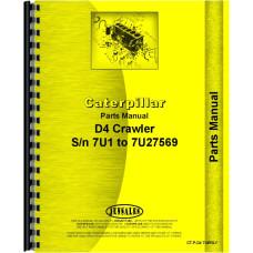 Caterpillar D4 Crawler Parts Manual (SN# 7U1-7U27569) (7U1-7U27569)