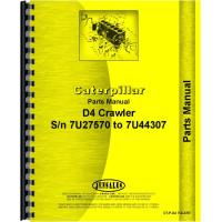 Caterpillar D4 Crawler Parts Manual (SN# 7U27570-7U44307) (Late)