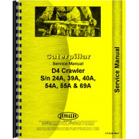 Caterpillar D4 Crawler Service Manual (SN# 24A1 and Up, SN# 39A1 and Up, SN# 40A1 and Up, SN# 54A1 and Up)