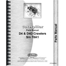 Caterpillar D4 Crawler Parts Manual (SN# 78A1) (78A1)