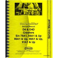 Caterpillar D4 Crawler Service Manual (SN# 78A1 and Up) (78A1+)