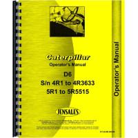 Image of Caterpillar D6 Crawler Operators Manual (SN# 4R1-4R3633, 5R1-5R5515) (4R1-4R3633 and 5R1-5R5515)