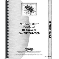 Caterpillar D6 Crawler Parts Manual (SN# 2H3248-2H8966) (2H3248-2H8966)