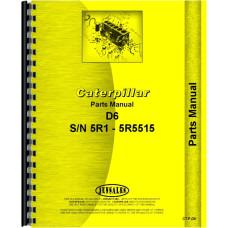 Caterpillar D6 Crawler Parts Manual (SN# 5R1-5R5515) (5R1-5R5515)