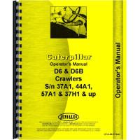 Caterpillar D6 Crawler Operators Manual (SN# 37A1 and Up, 44A1 and Up) (37A1+ and 44A1)