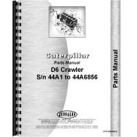 Caterpillar D6 Crawler Parts Manual (S/N 44A1-44A6856)