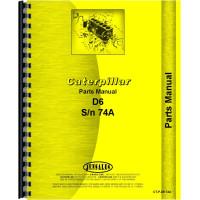 Caterpillar D6 Crawler Parts Manual (SN# 74A1-74A3108) (74A1-74A3108)