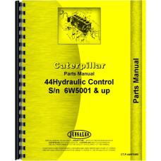 Caterpillar D4 Crawler #44 Hydraulic Control Attachment Parts Manual (SN# 2T1-2T9999, 4G1-4G9999, 5T1-5T7411, 6U1 and Up, 7U1 and Up, 7J1-7J9999, 8U1 and Up, 6W5001 and Up)