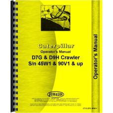 Caterpillar D9H Crawler Operators Manual (SN# 90V1 and Up)