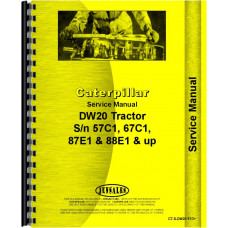 Image of Caterpillar DW20 Tractor Service Manual (SN# 57C1 and Up, 67C1 and Up, 87E1 and Up, 88E1 and Up)