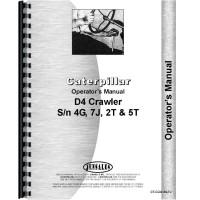 Caterpillar D4 Crawler Operators Manual (SN# 2T1 and UP, SN# 4G1 and UP, SN# 5T1 and UP, SN# 7J1 and UP) (2T1+, 4G1+, 5T1+ and 7J1+)
